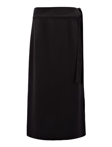 Stretch Flou Jesse Skirt, in Black, large | on Joseph