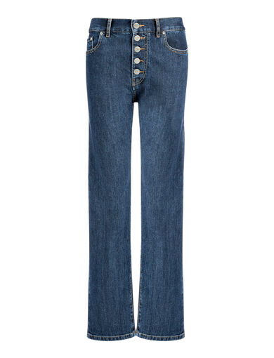 Denim Stretch Den Trousers, in INDIGO, large | on Joseph