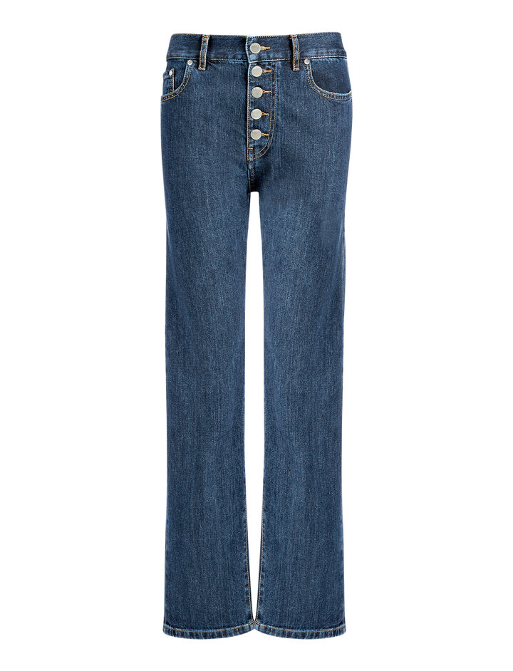 Pantalon Den en denim stretch, in INDIGO, large | on Joseph