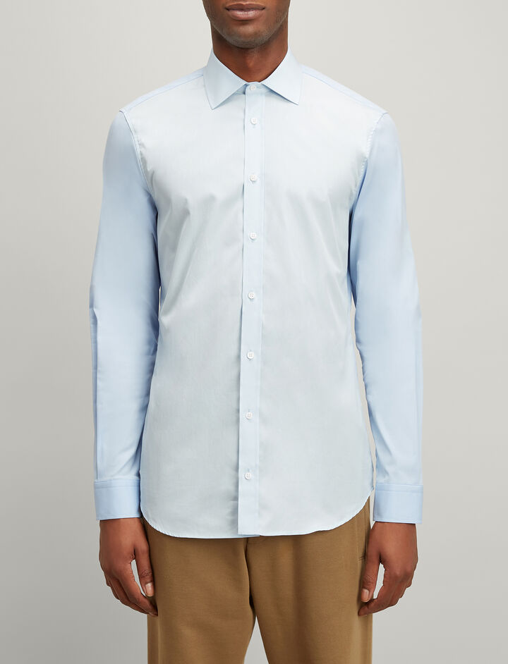 Joseph, Poplin + Poplin Stretch Cecile Shirt, in PALE BLUE