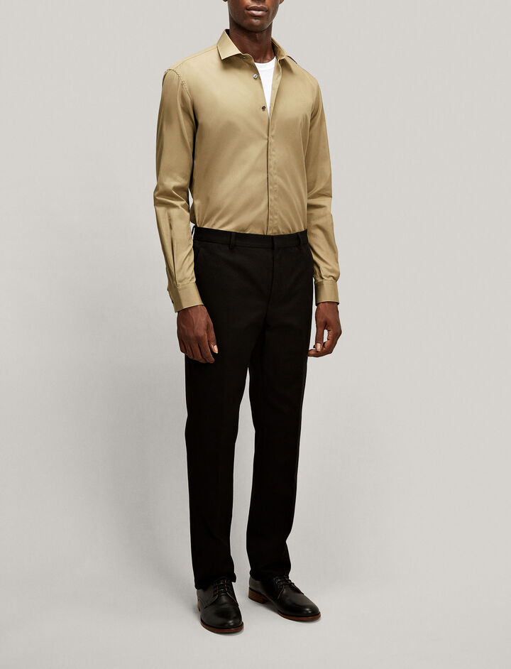 Joseph, Jean Pierre Poplin Shirt, in ARMY
