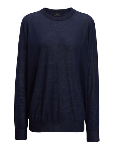 Pull en cashair, in NAVY, large | on Joseph