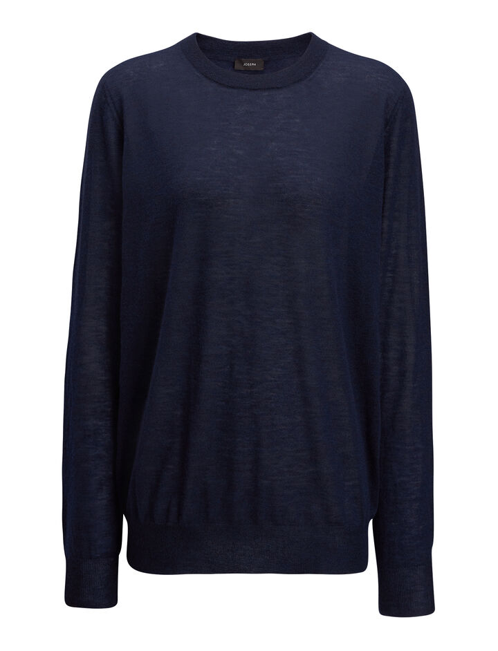 Cashair Sweater, in NAVY, large | on Joseph