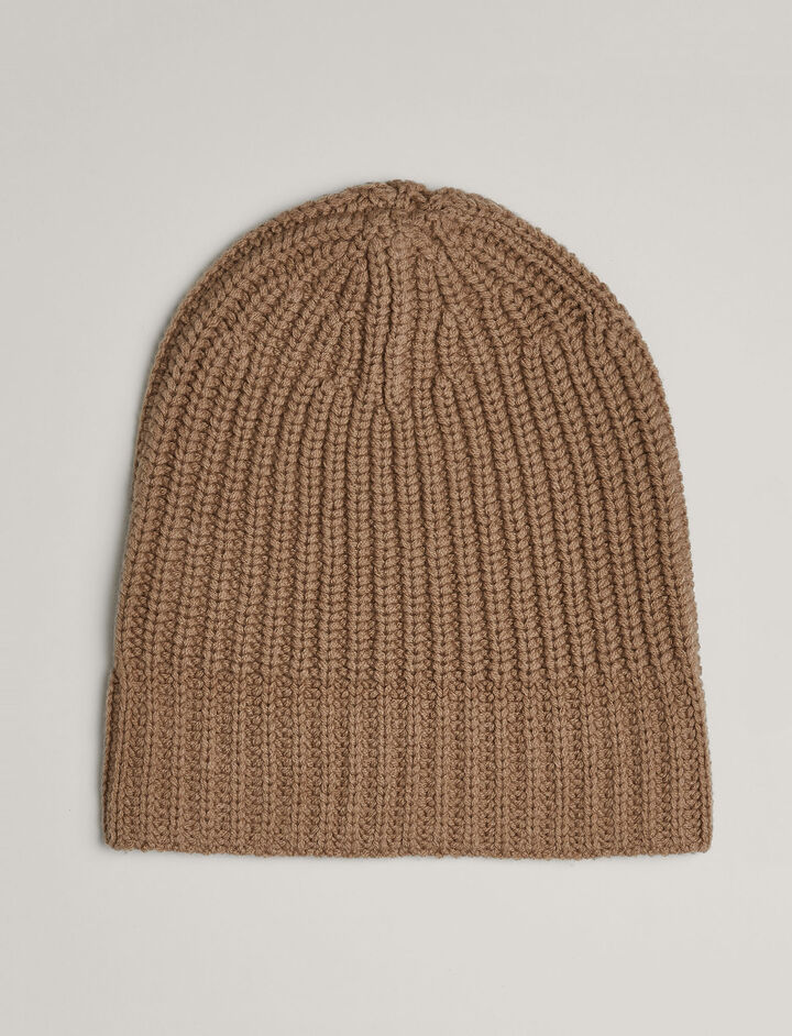 Joseph, Soft Wool Beanie, in CAMEL