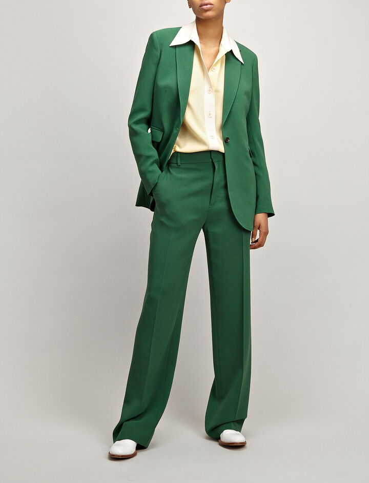 Joseph, Viscose Cady Laurent Jacket, in EMERALD