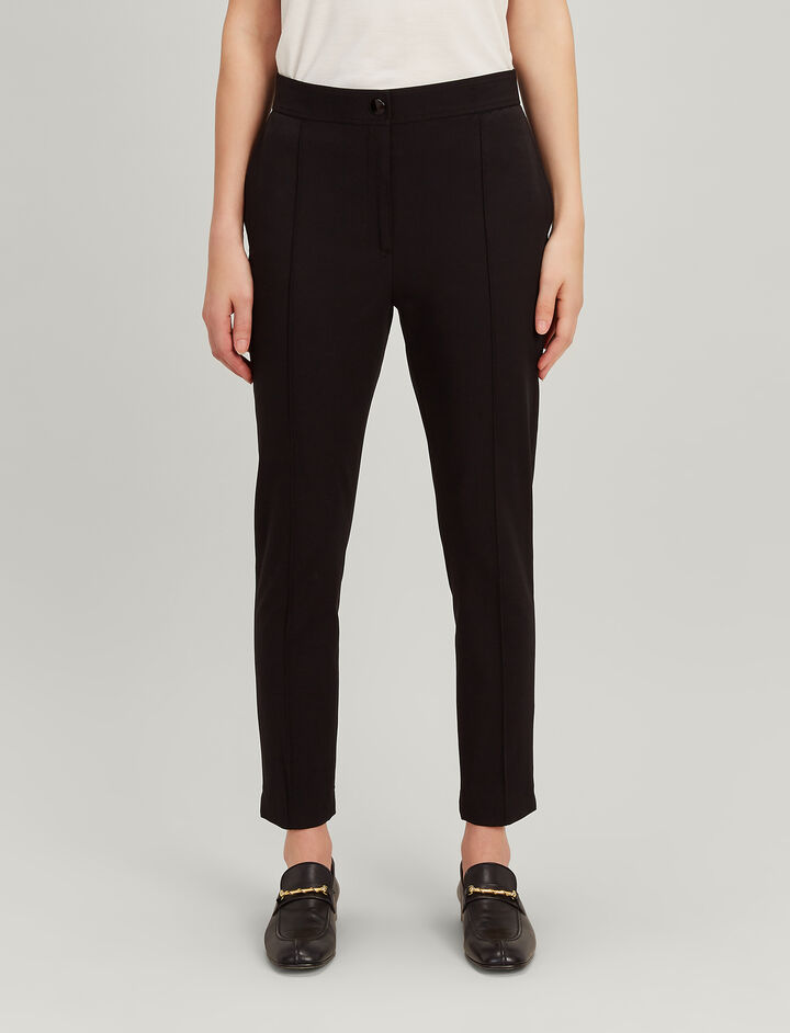 Drill Stretch Juno Trousers, in BLACK, large | on Joseph