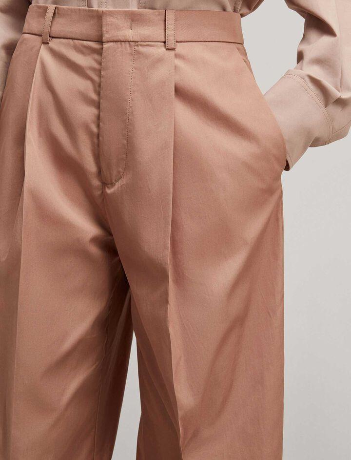 Joseph, Riska High Twist Cotton Trousers, in ROSE