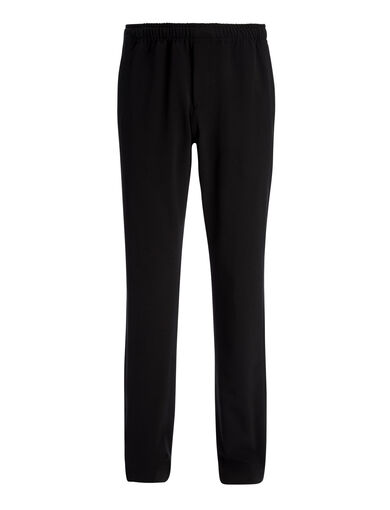 Pantalon Ettrick en laine techno stretch, in Black, large | on Joseph