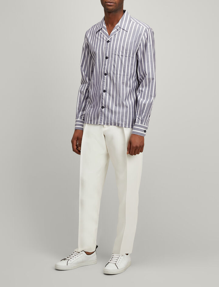 Joseph, Henley Stripe Dixon Shirt, in NAVY