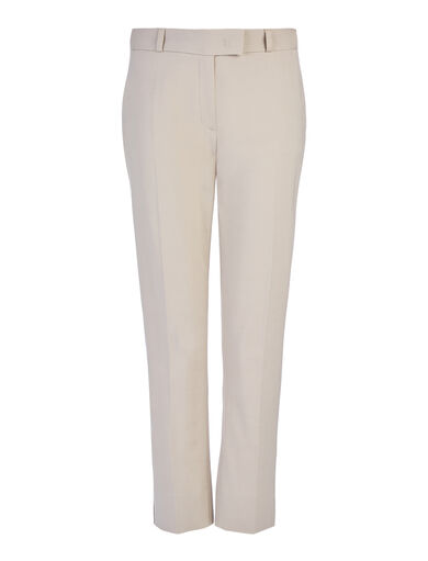 New Compact Cotton Bing Court Trousers, in ALMOND, large | on Joseph