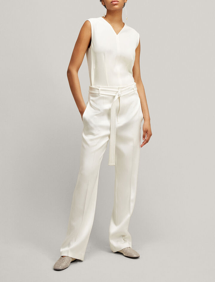 Joseph, Cecily Fluid Twill Blouse, in OFF WHITE
