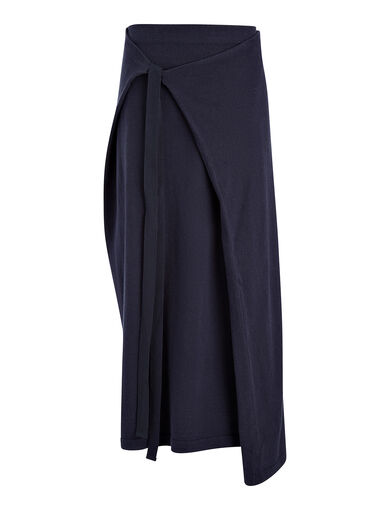 Calico Knit Skirt, in NAVY, large | on Joseph