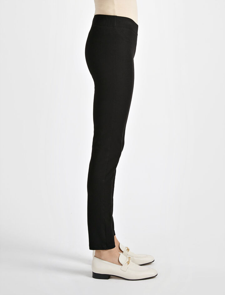 Gabardine Stretch Legging, in BLACK, large | on Joseph