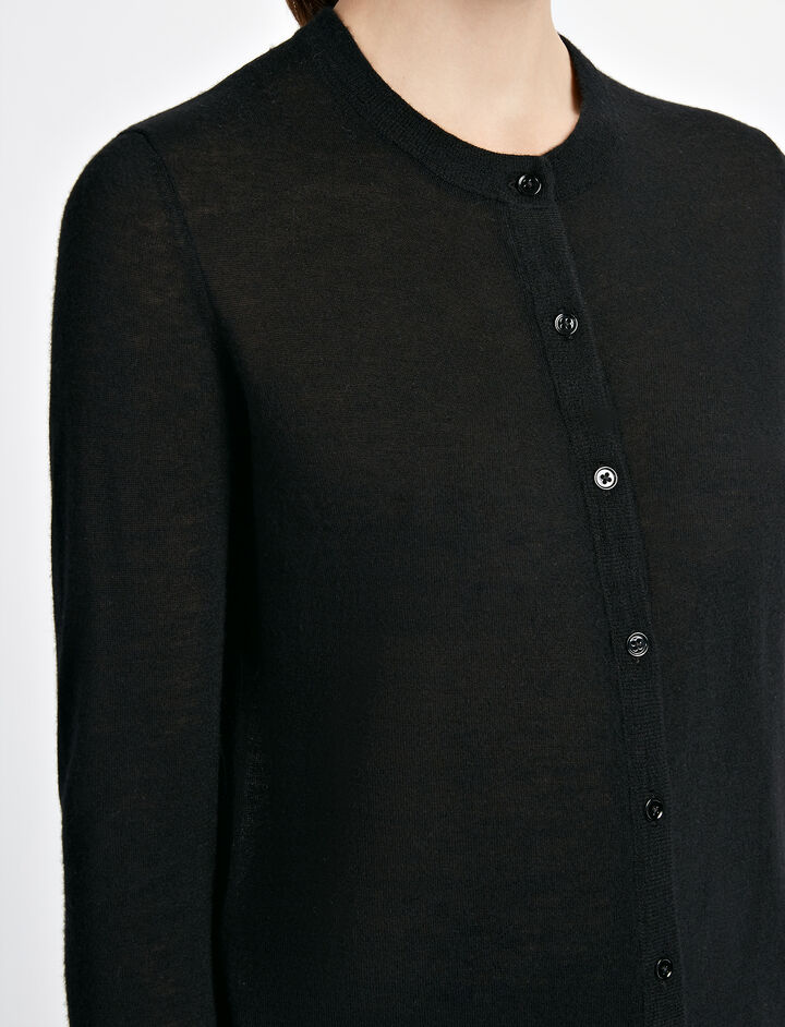 Cashair Cardigan, in BLACK, large | on Joseph