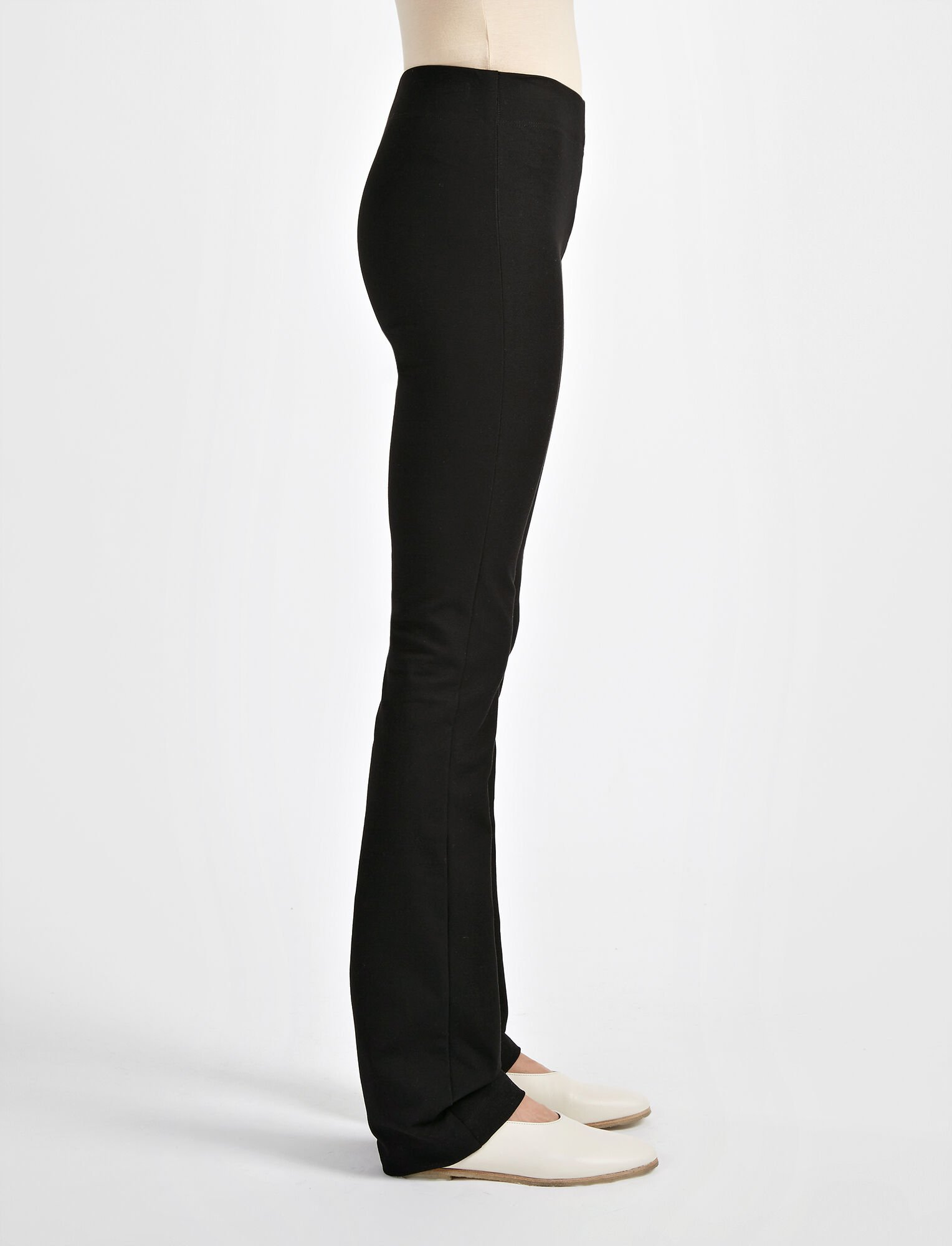 Pantalon Lex en gabardine stretch, in BLACK, large | on Joseph