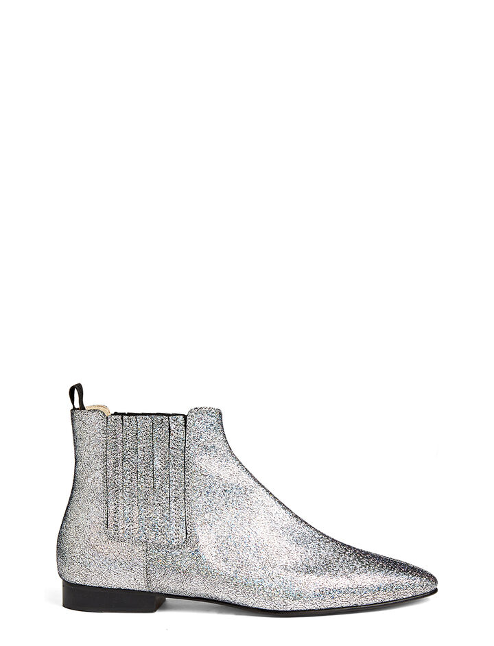 Nappa Leather Star Pixie Boot, in SILVER, large | on Joseph
