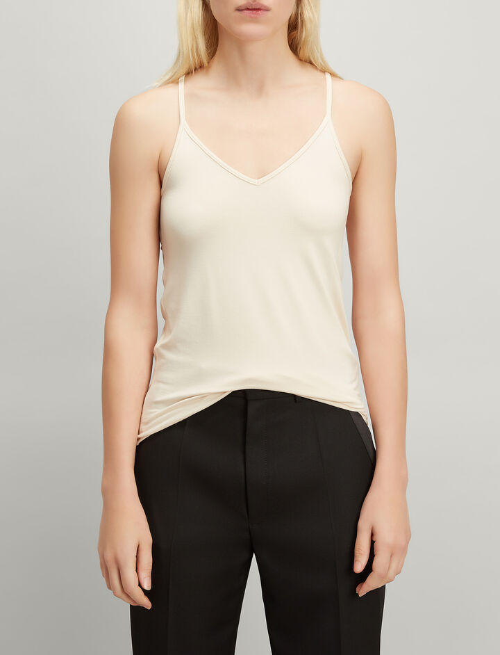 Joseph, Stretch Jersey Camisole, in PEARL