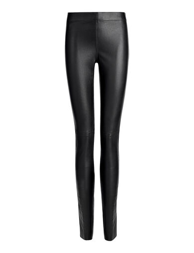 Legging en cuir stretch, in BLACK, large | on Joseph
