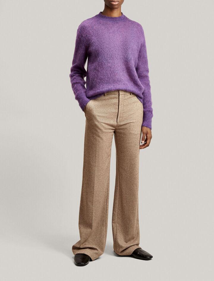 Joseph, Ferguson Herringbone Trousers, in CAMEL