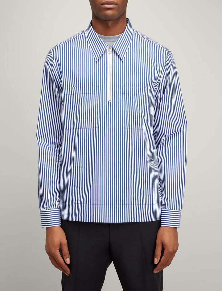 Candy Stripe Gilroy Shirt, in NAVY, large | on Joseph