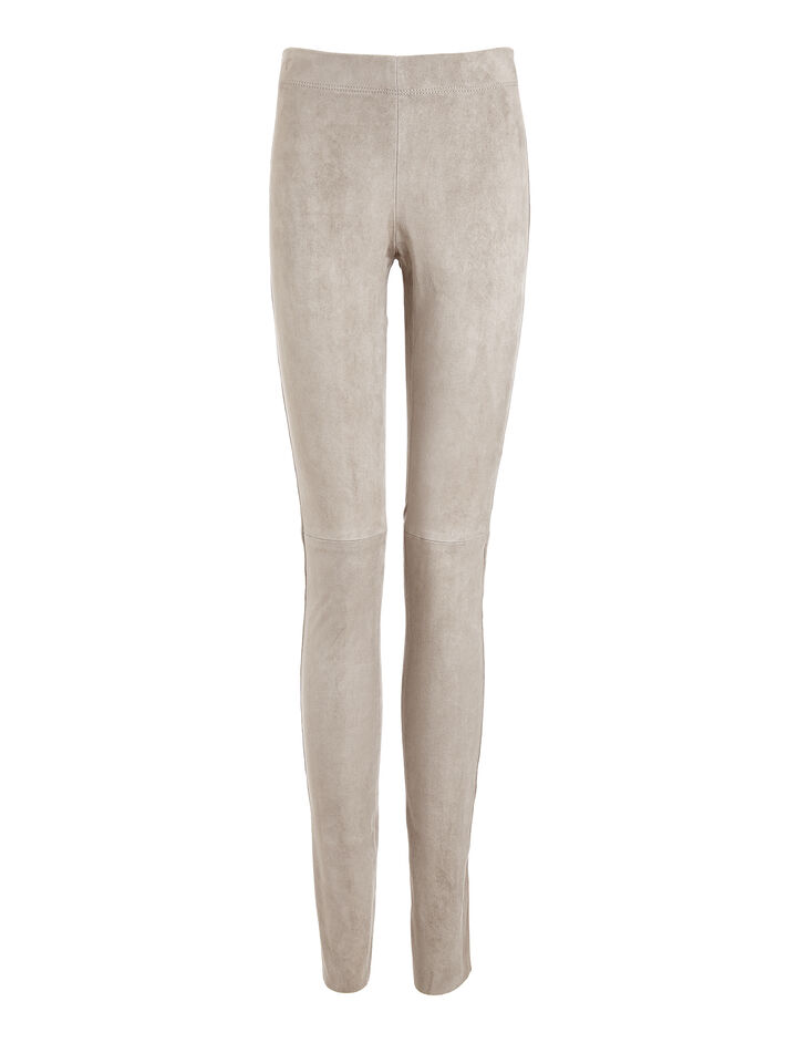 Joseph, Leather Stretch Leggings, in GREY