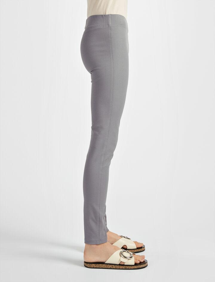 Gabardine Stretch Legging, in GREY, large | on Joseph