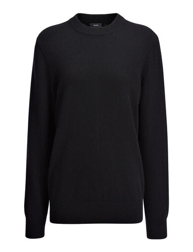 Cashmere 12gg V Neck Sweater, in BLACK, large | on Joseph