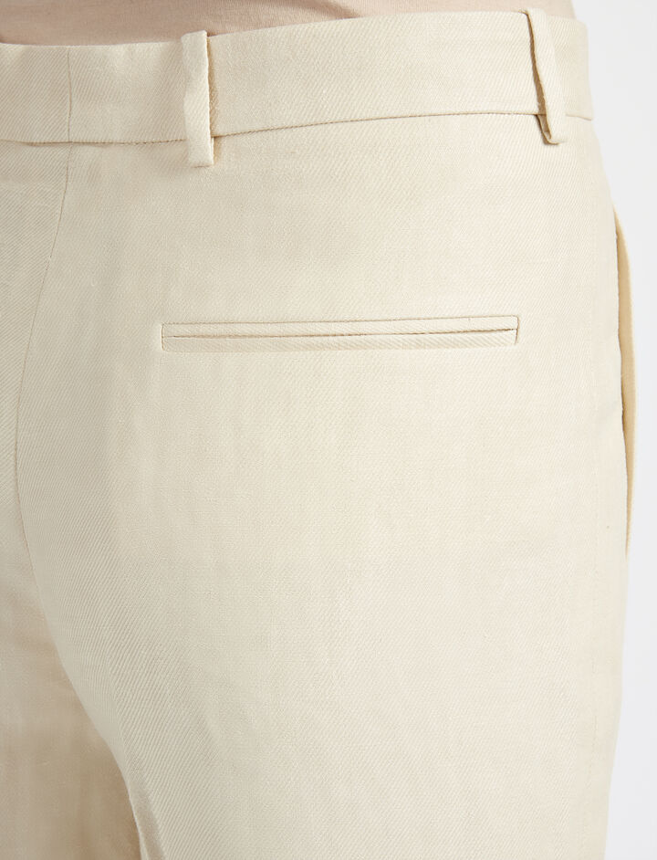 Linen Twill Ferguson Trouser, in SAND, large | on Joseph