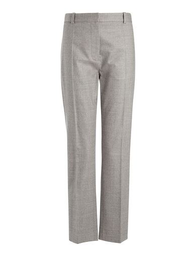 Pantalon Zoom en flanelle stretch, in CONCRETE, large | on Joseph