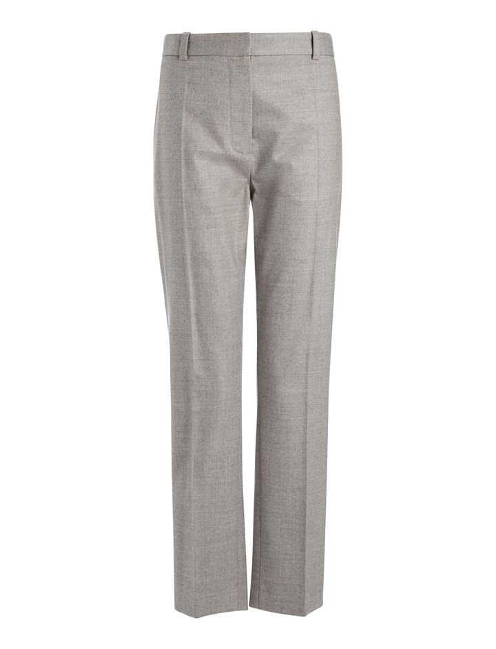 Flannel Stretch Zoom Trousers, in CONCRETE, large | on Joseph
