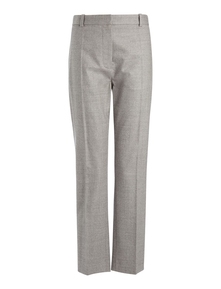 Joseph, Pantalon Zoom en flanelle stretch, in CONCRETE