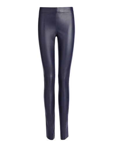Legging en cuir stretch, in INK, large | on Joseph