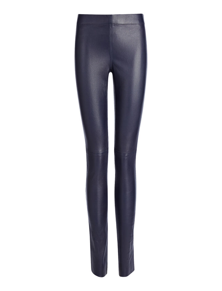 Leather Stretch Legging, in INK, large | on Joseph
