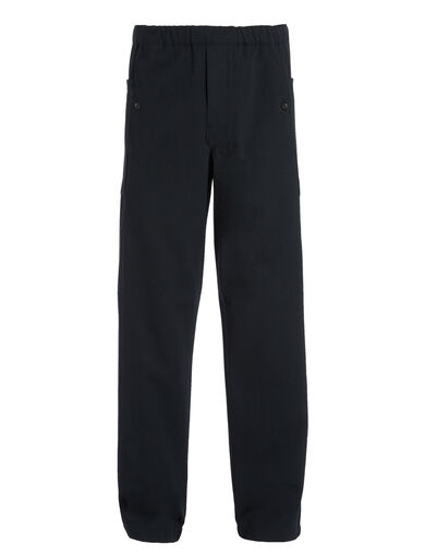 Pantalon Danes en twill de laine et coton, in NAVY, large | on Joseph
