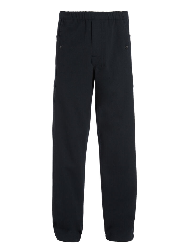 Wool Cotton Twill Danes Trousers, in NAVY, large | on Joseph