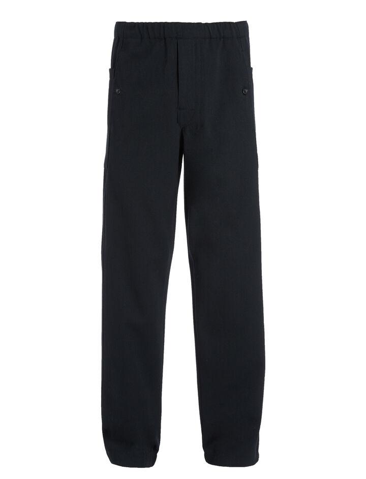 Pantalon Danes en twill de laine et coton, in NAVY, large | on Joseph