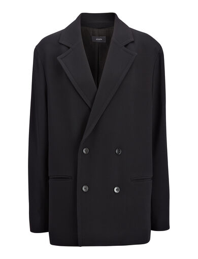 Viscose Cady Ritchie Jacket, in BLACK, large | on Joseph