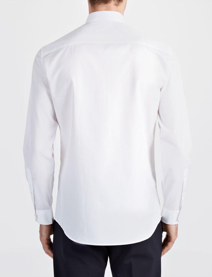 Poplin John Shirt, in WHITE, large | on Joseph