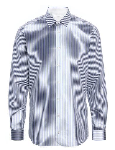 Stripes Forever John Shirt, in NAVY/WHITE, large | on Joseph