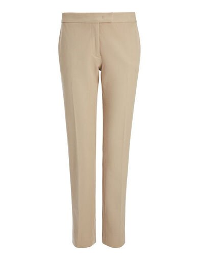 Pantalon Finley en gabardine stretch, in BEIGE, large | on Joseph