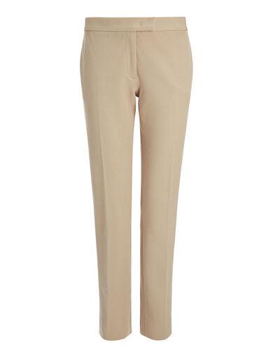 Gabardine Stretch Finley Trouser, in BEIGE, large | on Joseph