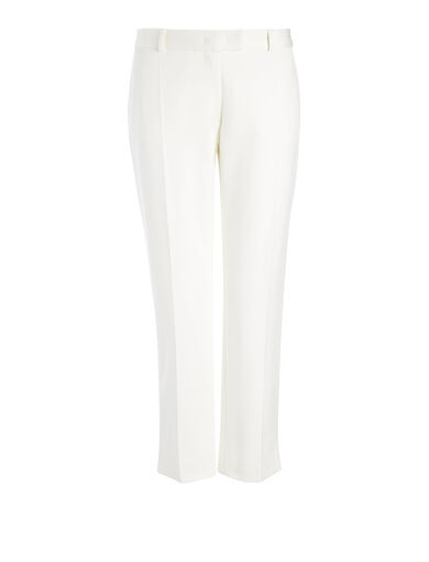 Compact Cotton Bing Court Trouser, in WHITE, large | on Joseph