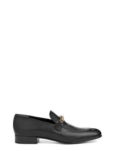 Mocassins Cuir de Veau, in BLACK, large | on Joseph
