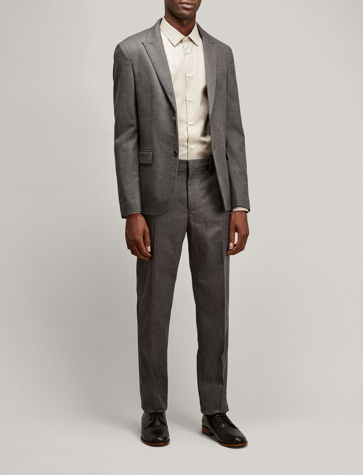 Joseph, Freddy Flanelle Stretch Jacket, in CHARCOAL