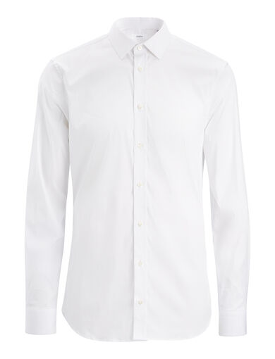 Poplin Stretch Jim Shirt, in WHITE, large | on Joseph