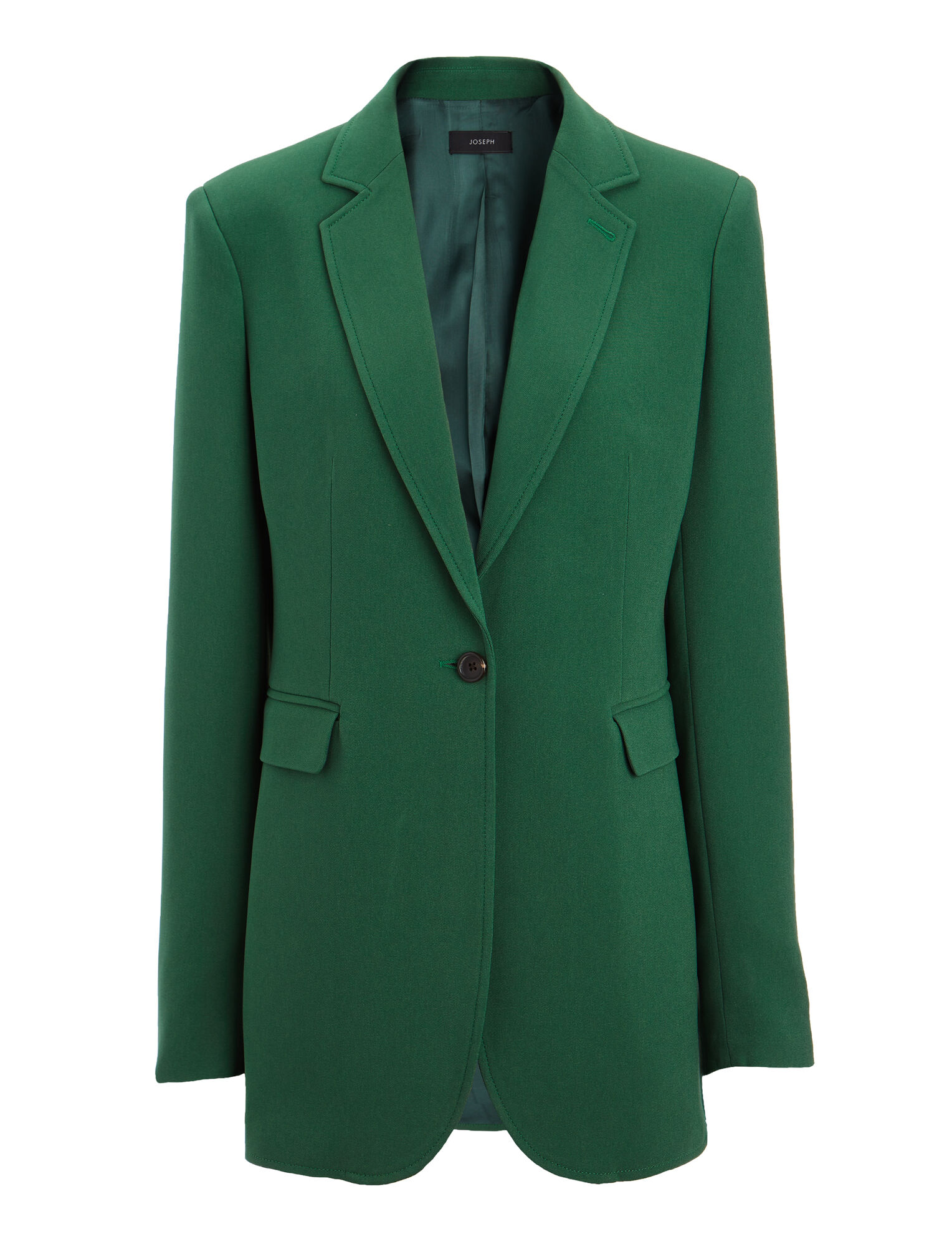 Viscose Cady Laurent Jacket, in EMERALD, large | on Joseph