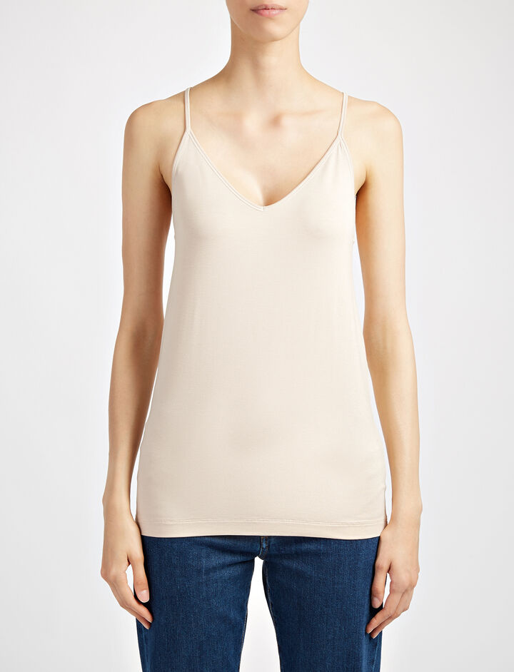 Camisole-Stretch Jersey, in FONDANT, large | on Joseph