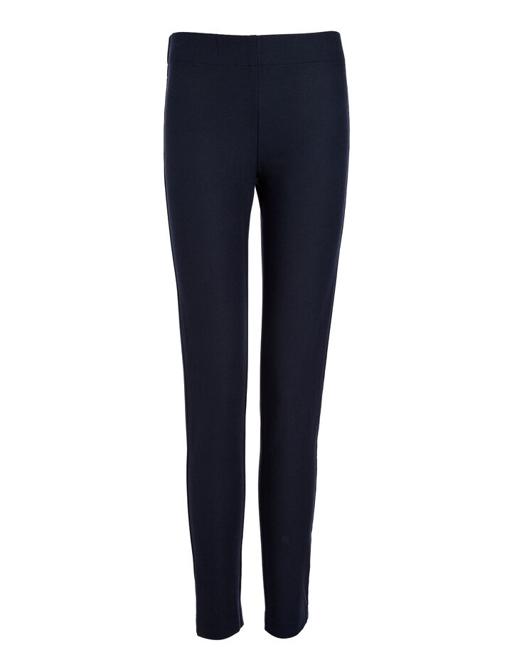Gabardine Stretch Leggings, in NAVY, large | on Joseph