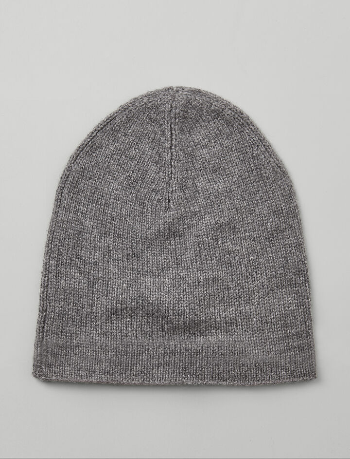 Mongolian Cashmere Hat, in GRAPHITE, large | on Joseph