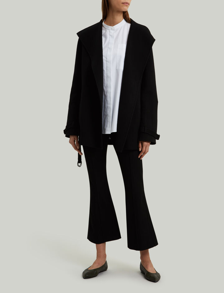 Joseph, New Lima Short Double Cashmere Coat, in BLACK